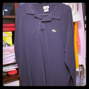 Lacoste Dark Blue Long Sleeve Polo 6